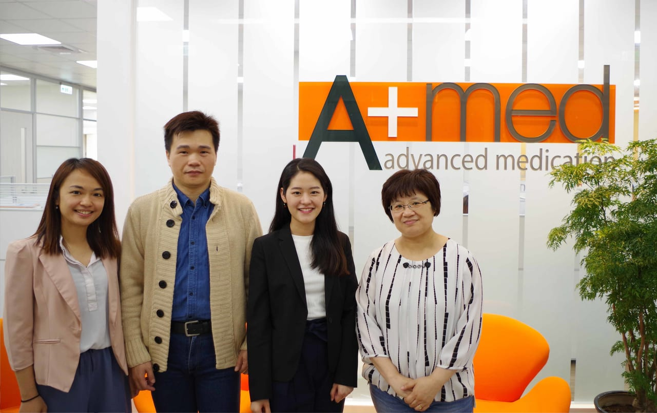 Amed Co. Ltd. (from right) Vice president Suhaing, TS Cloud specialist, deputy manager of information management Vinson, and manager of human resources Elim