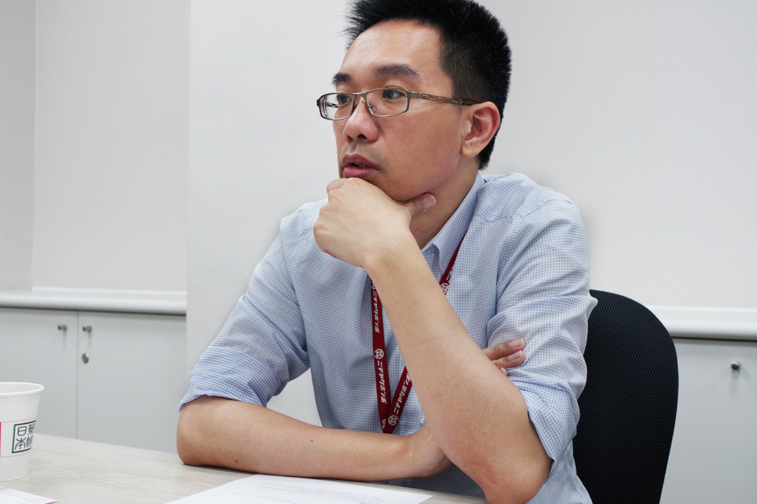 Mr. Su, Manager of Japan Medical Co., Ltd shares with TS Cloud specialist the advantages of G Suite.