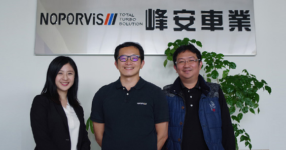 G Suite case study: (From the left) TS Cloud specialist, General manager of Noporvis Mr. Zhan, IT personnel Mr. Zhou