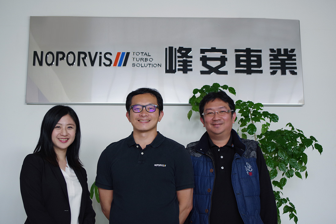 (From the left) TS Cloud specialist, General manager of Noporvis Mr. Zhan, IT personnel Mr. Zhou